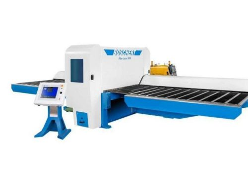 Combi cut punch laser fiber machine