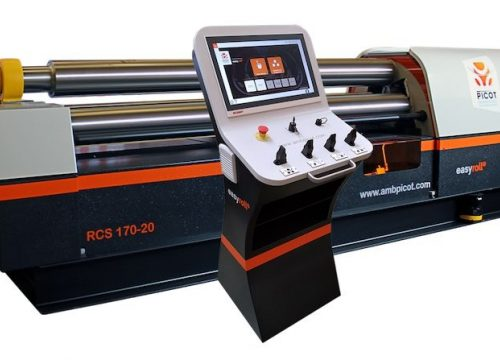 Plate roll bending machine programmable interface